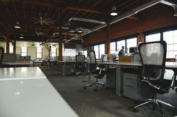 Furnished open plan office